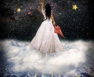 woman grabbing a star
