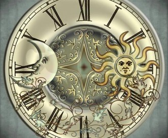 celestial_sun_and_moon_modern_wall_clock